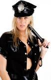 sexig bildkvinnlig polis royaltyfri foto