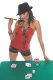 sexig blackjackspelare Arkivbilder