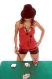 sexig blackjackspelare Royaltyfri Fotografi