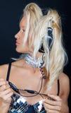 sexig blond bild Royaltyfri Fotografi