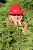 sexig blond cowgirl Arkivbild