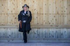 sexig blond cowgirl Arkivfoton