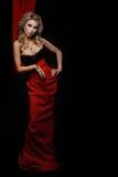 Sexig blond kvinna Arkivbilder