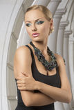 Sexig blond modekvinna Royaltyfria Foton