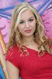 sexig blondin Royaltyfri Bild
