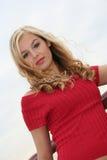 sexig blondin Arkivfoto