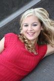 sexig blondin Fotografering för Bildbyråer