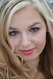sexig blondin Arkivbild
