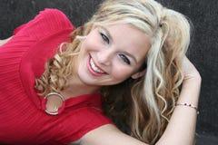 sexig blondin Arkivfoton