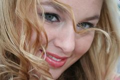 sexig blondin Arkivbilder