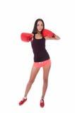 Sexig boxningkvinna fotografering för bildbyråer