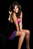 sexig brunett Royaltyfri Fotografi