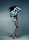 Sexig brunett Royaltyfri Foto