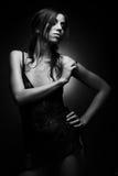 sexig brunettflicka Fotografering för Bildbyråer