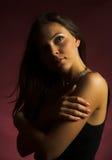 sexig brunettflicka Arkivfoto