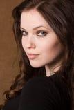 sexig brunettframsida Fotografering för Bildbyråer
