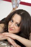 Sexig caucasian kvinna Arkivbilder
