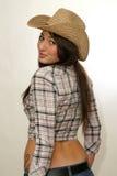 sexig cowgirl Royaltyfri Fotografi