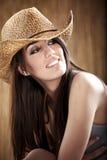 sexig cowgirl Arkivfoto