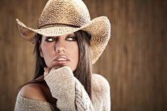 sexig cowgirl fotografering för bildbyråer