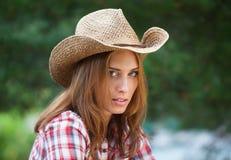 Sexig cowgirl. Royaltyfri Fotografi