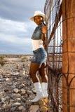 sexig cowgirl Royaltyfria Bilder