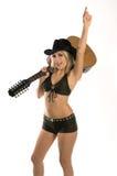 sexig cowgirl Royaltyfri Foto