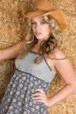 sexig cowgirl Royaltyfria Foton
