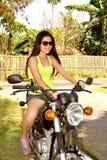 sexig cyklist Fotografering för Bildbyråer