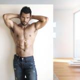 Sexig dude Fotografering för Bildbyråer