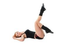 sexig fitnesflicka Fotografering för Bildbyråer