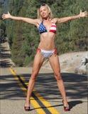 Sexig flicka i bikini Arkivfoto
