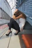 Sexig flicka i en sorg Arkivbilder