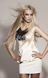 Sexig flicka med blont hår royaltyfri fotografi