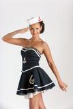 Sexig flicka som sjöman Arkivbild