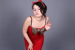 sexig flickautvikningsbrud Fotografering för Bildbyråer