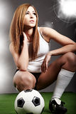 sexig fotboll för spelare Royaltyfri Foto