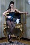 sexig fransk maid Arkivbild