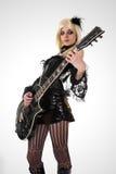 sexig gitarrspelare Royaltyfri Foto