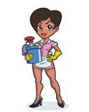 Sexig hushållerska Vektor Illustrationer