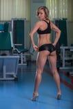 Sexig idrotts- blondin Royaltyfri Bild
