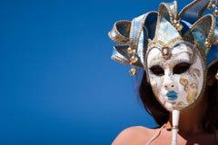 sexig karnevalflickamaskering Royaltyfri Fotografi