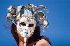 sexig karnevalflickamaskering Arkivbild
