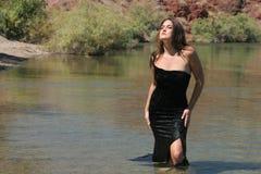 sexig klänningflicka arkivbilder