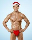 Sexig kondition Santa Claus Arkivfoton
