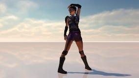 Sexig krigarekvinnlig Royaltyfri Fotografi