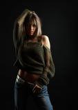 sexig kvinna royaltyfri foto