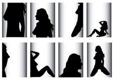 sexig kvinna royaltyfri illustrationer