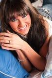 Sexig kvinna - brunettmodell arkivfoton