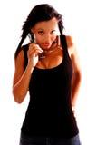sexig kvinna för afrikansk amerikan Arkivfoto